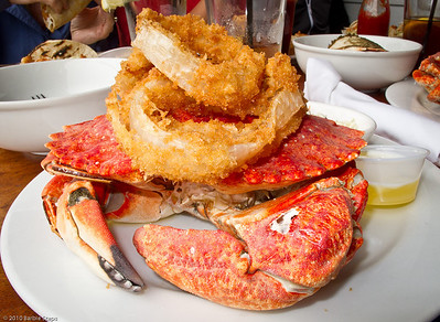 My own 1 1/2 lb crab !!!  Watch out, I am messy !