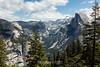 North Dome, Basket Dome, Royal Arches, Half Dome - Yosemite #8487