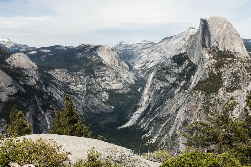 Basket Dome, Mt  Watkins, Half dome - Yosemite #7422