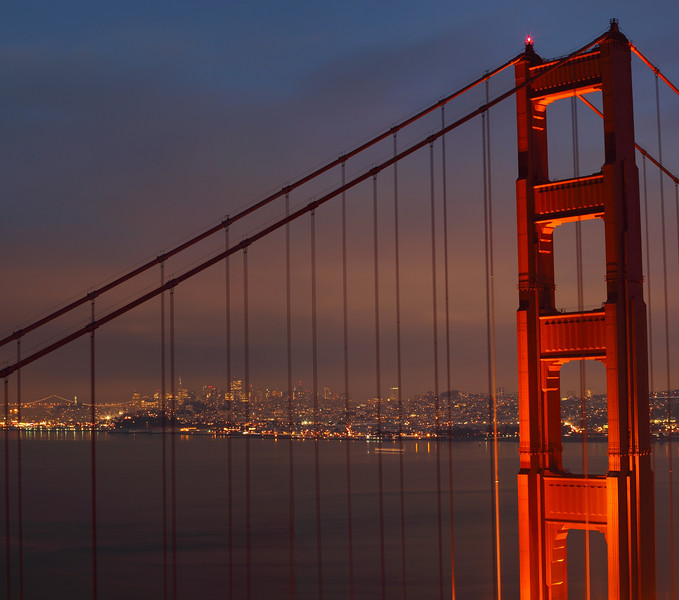 Golden Gate Bridge Evening
