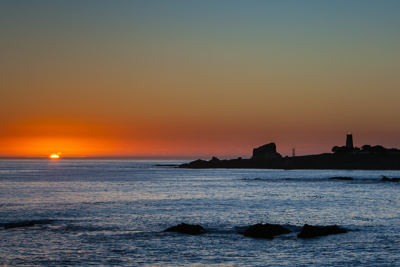 """Sunset at Piedras Blancas Light Station"""