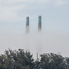 Cooling Towers in Fog, Moss Landing Power Plant
