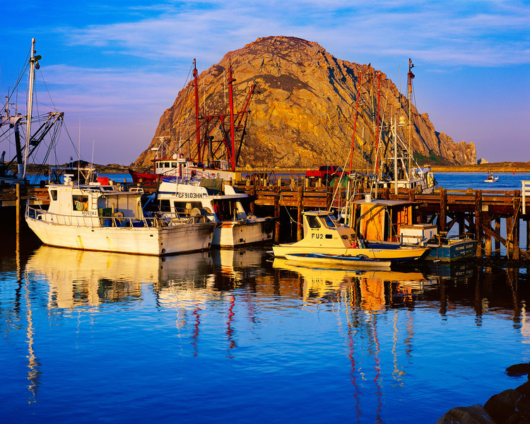 """Morro Bay Harbor at Sunrise"""