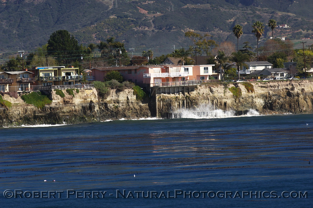 Cliff erosion and house condemned; Goleta.