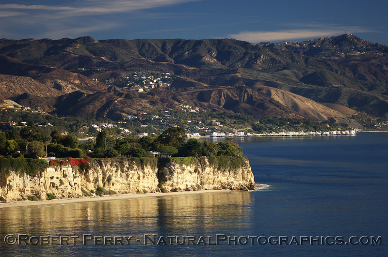 Dume Cove (foreground), and Little Dume Point, Malibu.