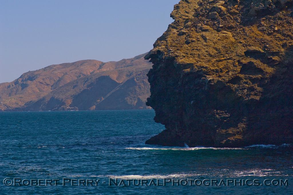 "Profile Point, Santa Cruz Island, ""Guardian of the Painted Cave."""