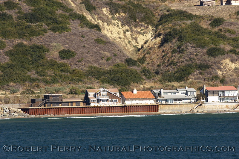 Beachfront retaining sea wall, Ventura County.