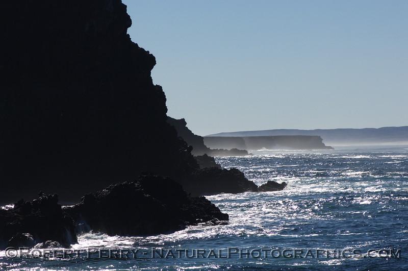 Northwest tip of Santa Cruz Island looking southwest towards Frazier Point with Santa Rosa Island in background.