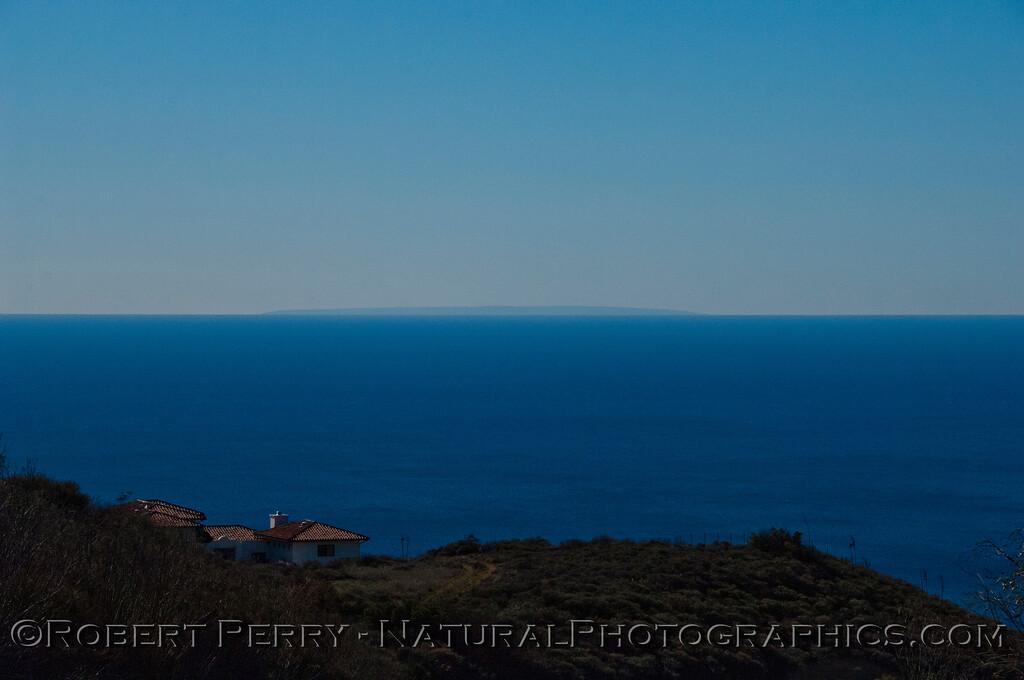 San Nicolas Island seen from atop Deer Creek.
