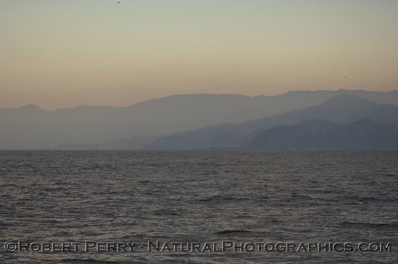 Ventura County coastline at dusk.