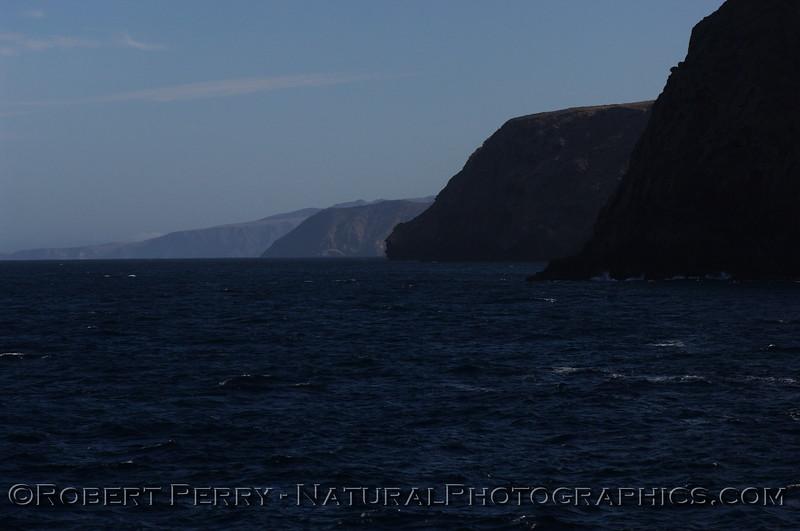 Northwest coastline of Santa Cruz Island.