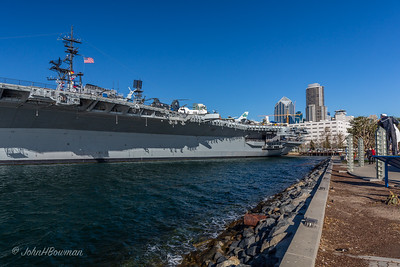 USS Midway at Tuna Harbor Park, San Diego
