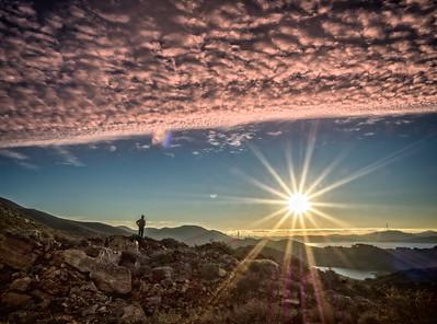 Watching the sun rise, Marin Headlands, California