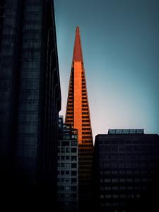 Sunset on the Transamerica Building