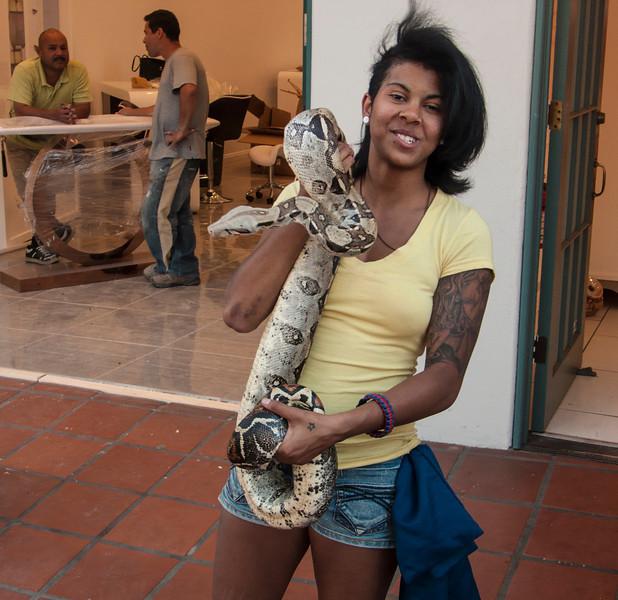 Girl on the Street in Santa Boabra