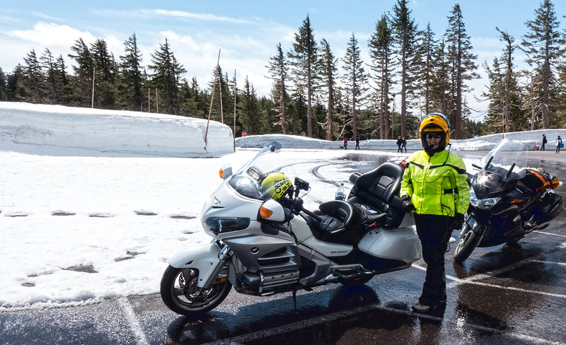 Crater Lake Parking Lot - May 2014