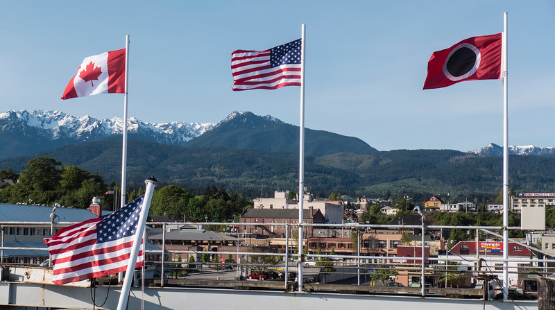 View of the Olympic Mountain Range