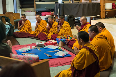 A highlight of the week was the creation of a sand mandala -- an intricate piece of sacred art comprised of millions of grains of colored sand.