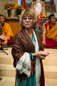 Pam Wicks, who was instrumental in organizing and promoting the monk's visit for the week.