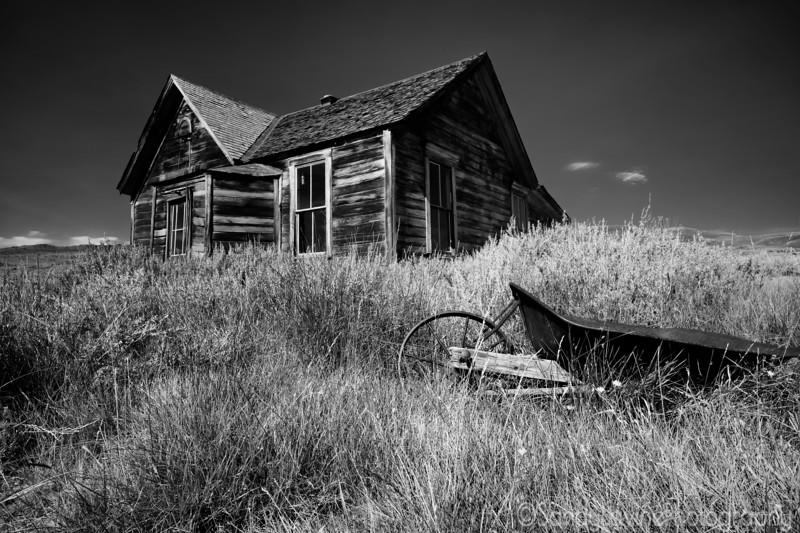 Old House and Wheelbarrow