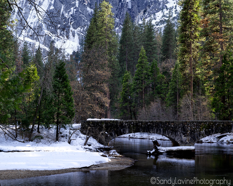 The Ahwahnee Bridge Winter 2019
