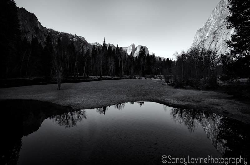 Yosemite Valley From Swinging Bridge