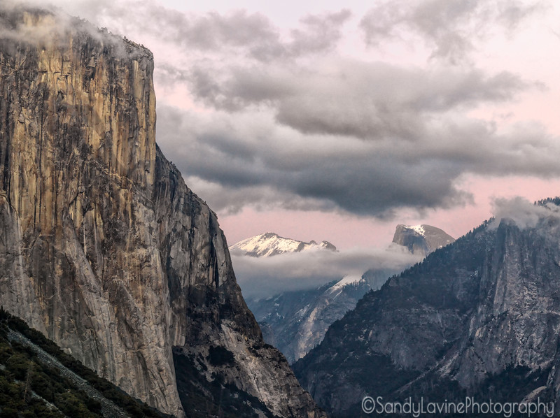 El Capitan and Half Dome from Tunnel View