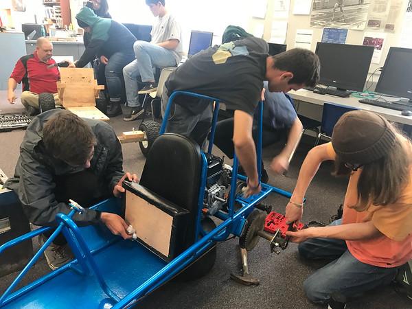 5-18-19 Go Cart build in Mr Johnson's Class-6