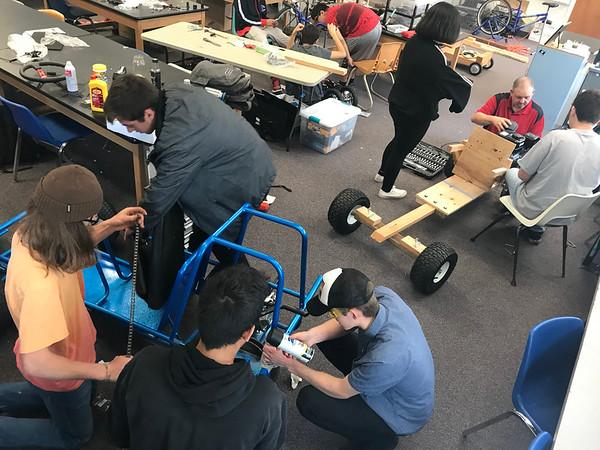 5-18-19 Go Cart build in Mr Johnson's Class-7