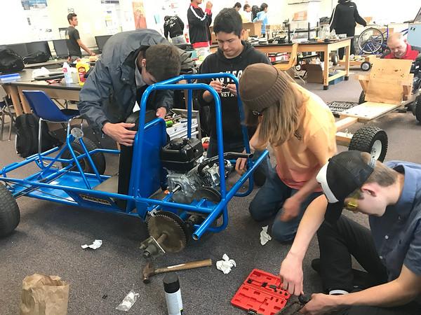 5-18-19 Go Cart build in Mr Johnson's Class-18
