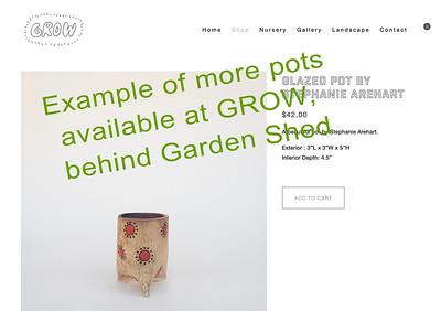 1 Stephanie Arehart pot at GROW