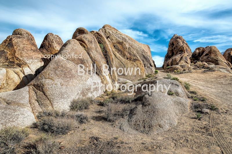 Smoothly Weathered Rocks at Alabama Hills