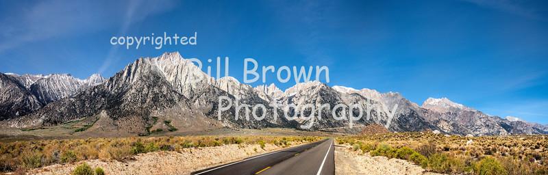 Sierras as Seen from Whitney Portal Road