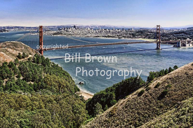 Golden Gate Bridge Looking Toward San Francisco