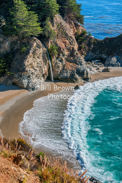 McWay Falls and Surf at Julia Pfeiffer Burns State Park