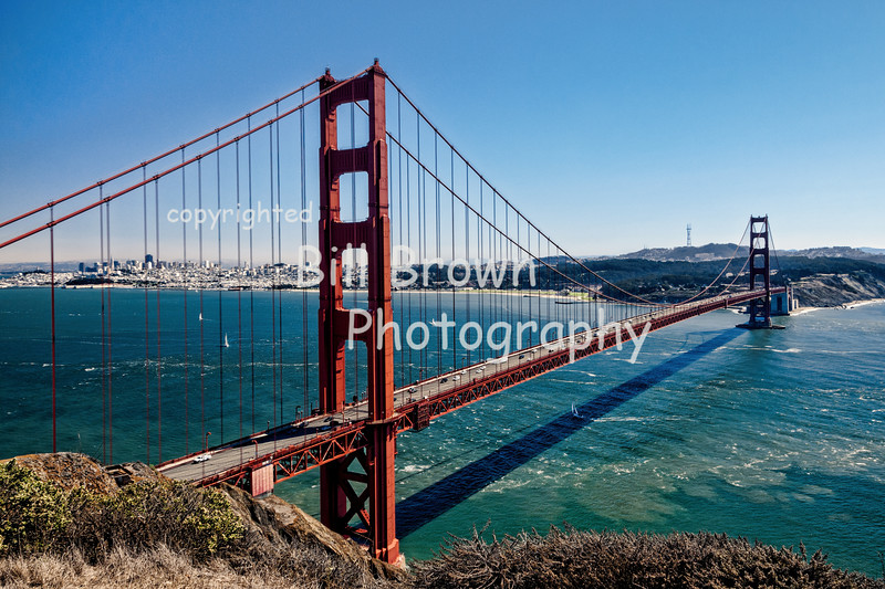 Golden Gate Bridge with San Francisco in the Distance