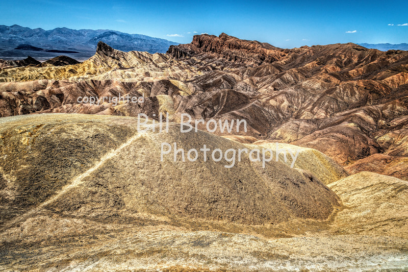 View from Zabriskie Point at Death Valley