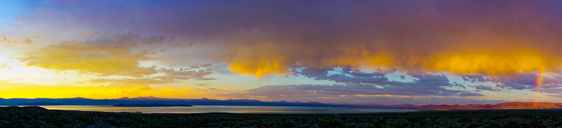 Mono Lake Rainbow Sunset