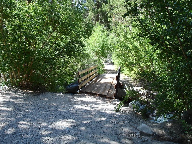 Another bridge crossing Big Pine Creek.<br /> <br /> High Sierra: North Fork Big Pine Creek: Sam Mack Meadows: High Glacier Camp: Palisade Glacier: Palisades: Mount Sill: Swiss Arete