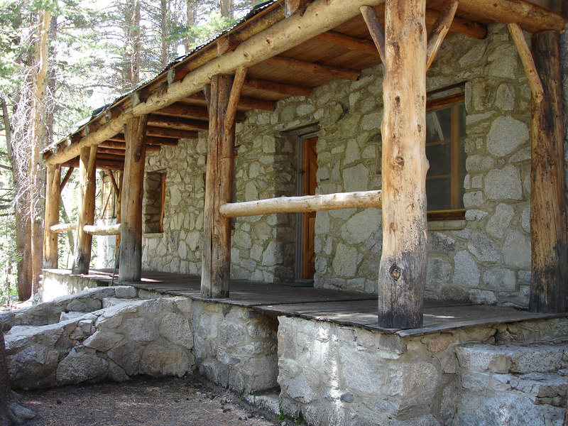 """Lon Chaney Cabin. Click <a href=""""http://www.fs.fed.us/r5/newslog/march2004/history/chaney.html"""" target=""""_blank"""">here</a> to learn more about this cabin and the architect who designed it.  High Sierra: North Fork Big Pine Creek: Sam Mack Meadows: High Glacier Camp: Palisade Glacier: Palisades: Mount Sill: Swiss Arete"""
