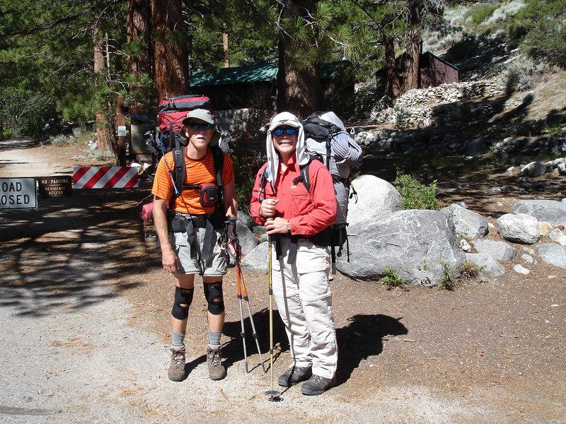 Mr. Ranger took our picture at the Big Pine Creek TH.<br /> <br /> High Sierra: North Fork Big Pine Creek: Sam Mack Meadows: High Glacier Camp: Palisade Glacier: Palisades: Mount Sill: Swiss Arete
