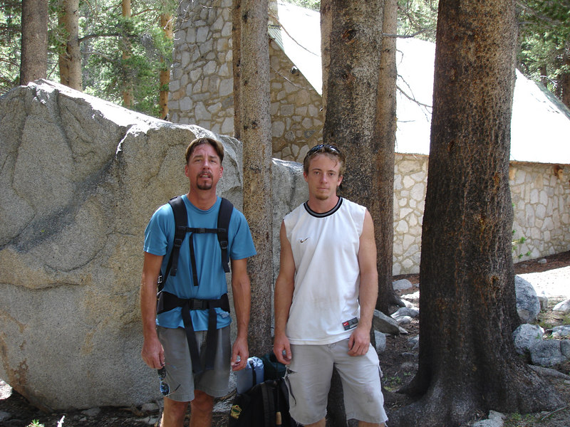 Two hard climbers on their way to Temple Crag to stash supplies for a friend.<br /> <br /> High Sierra: North Fork Big Pine Creek: Sam Mack Meadows: High Glacier Camp: Palisade Glacier: Palisades: Mount Sill: Swiss Arete
