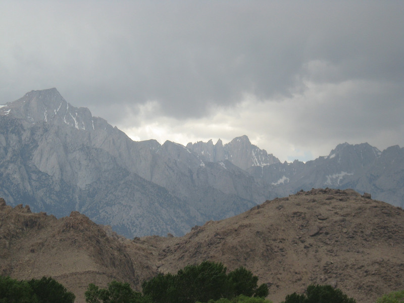 Alabama Hills and Mt Whitney.