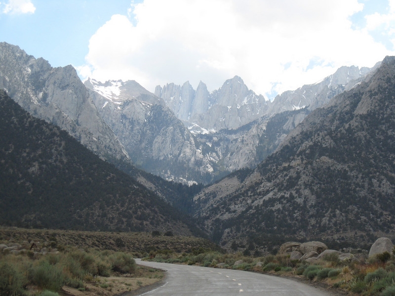 The drive to Whitney Portal from Lone Pine.