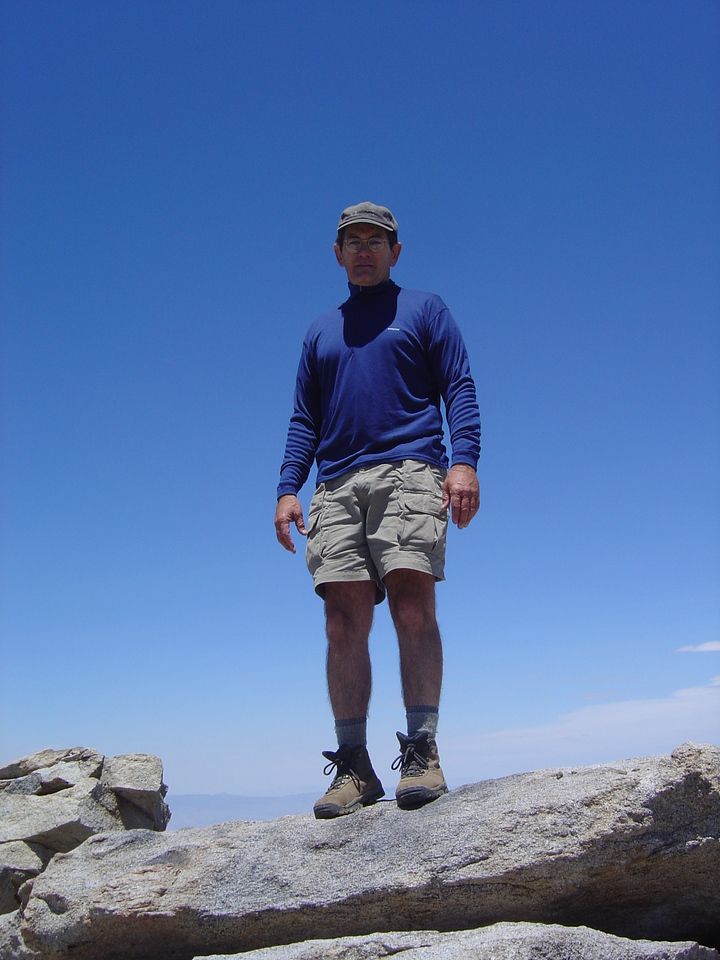 Grif posing on the summit (July 14, 2005).