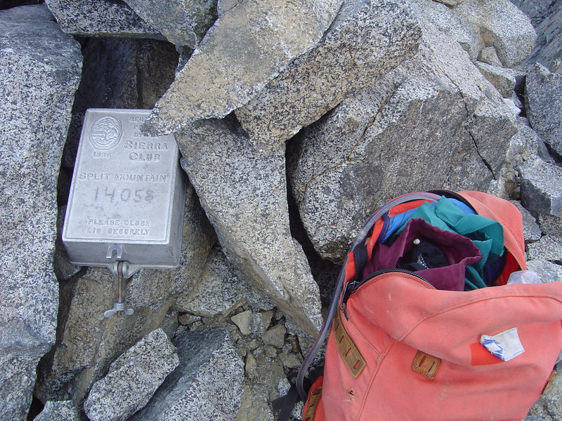 The summit register.