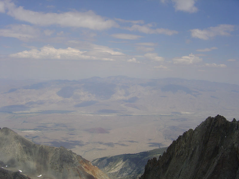 Owens Valley and  White Mountains, home of the Bristlecone Pines.