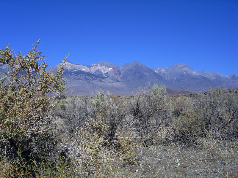 Split Mountain from Owens Valley, south of Big Pine, California.