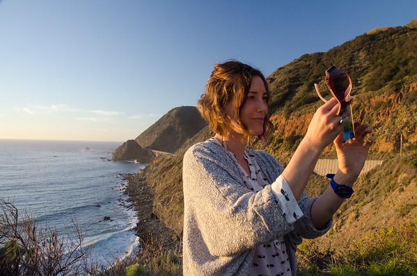 Selfies at sunset | A Drive Through Big Sur, California