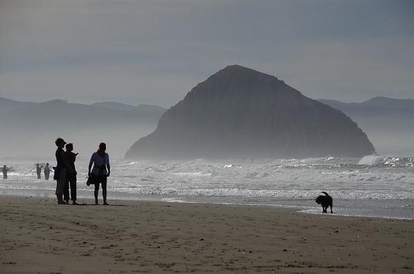 Views of Morro Rock from North Point Beach - Morro Bay, California